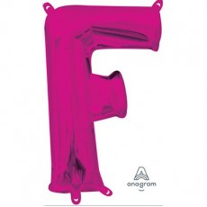 Letter F Pink CI: Shaped Balloon