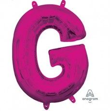 Pink CI: Letter G Shaped Balloon 40cm