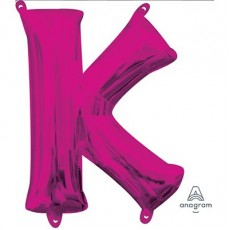 Letter K Pink CI: Shaped Balloon