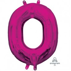 Letter O Pink CI: Shaped Balloon
