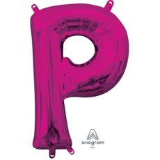 Pink CI: Letter P Shaped Balloon 40cm