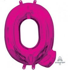 Pink CI: Letter Q Shaped Balloon 40cm