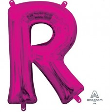 Pink CI: Letter R Shaped Balloon 40cm