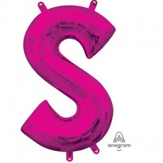 Pink CI: Letter S Shaped Balloon 40cm
