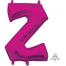 Pink CI: Letter Z Shaped Balloon 40cm