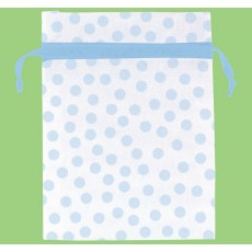 Blue Dots Organza Favour Bags Pack of 12