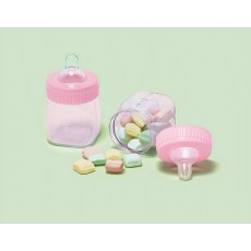 Baby Shower - General Pink Plastic Fillable Baby Bottle Favour Boxes