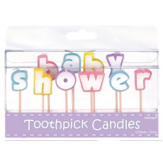 Baby Shower - General Candles Pack of 10