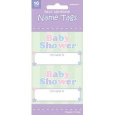 Baby Shower Party Supplies - Name Tags