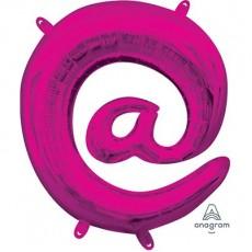 Pink at Symbol CI: @ Shaped Balloon 40cm