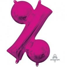 Pink Percentage Symbol CI: % Shaped Balloon 40cm