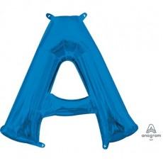 Blue CI: Letter A Shaped Balloon 40cm