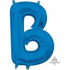 Blue CI: Letter B Shaped Balloon 40cm