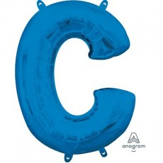 Letter C Blue CI: Shaped Balloon