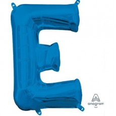 Letter E Blue CI: Shaped Balloon