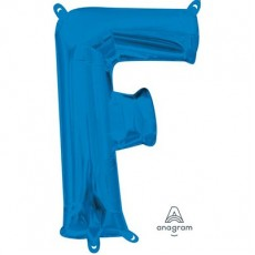 Letter F Blue CI: Shaped Balloon