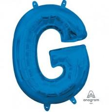 Blue CI: Letter G Shaped Balloon 40cm