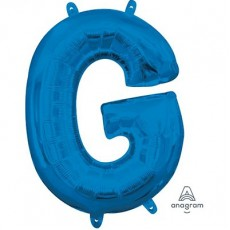 Letter G Blue CI: Shaped Balloon