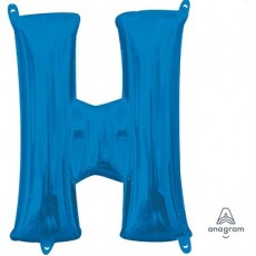Letter H Blue CI: Shaped Balloon