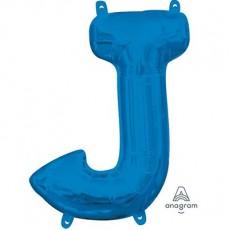 Blue CI: Letter J Shaped Balloon 40cm