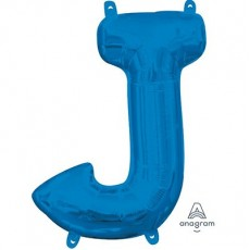 Letter J Blue CI: Shaped Balloon
