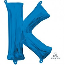 Letter K Blue CI: Shaped Balloon