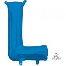 Blue CI: Letter L Shaped Balloon 40cm