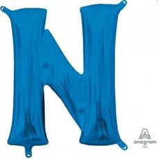 Blue CI: Letter N Shaped Balloon 40cm