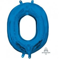 Letter O Blue CI: Shaped Balloon