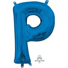 Letter P Blue CI: Shaped Balloon