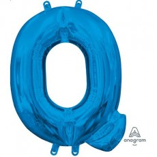 Letter Q Blue CI: Shaped Balloon