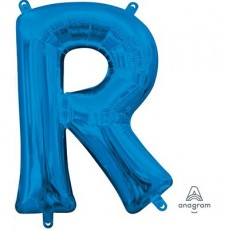 Letter R Blue CI: Shaped Balloon