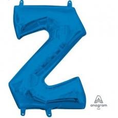 Letter Z Blue CI: Shaped Balloon