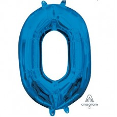 Number 0 Blue CI: Shaped Balloon