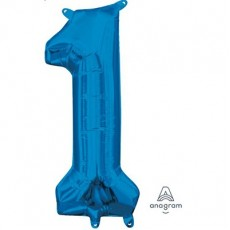 Number 1 Blue CI: Shaped Balloon