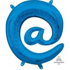 Blue at Symbol CI: @ Shaped Balloon 40cm