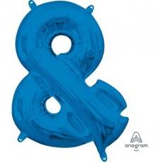 Blue Ampersand Symbol CI: & Shaped Balloon 40cm