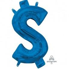 lue Dollar Sign CI: $ Shaped Balloon 40cm