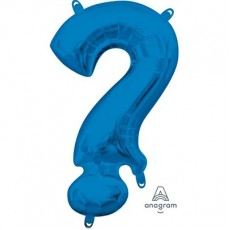 Blue Question Mark Symbol CI: ? Shaped Balloon 40cm