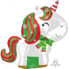 Christmas Party Decorations - Shaped Balloon Junior Christmas Unicorn