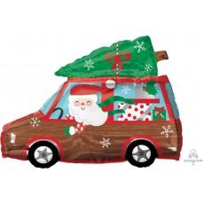 Christmas Junior Shape XL  Holiday Station Wagon Shaped Balloon