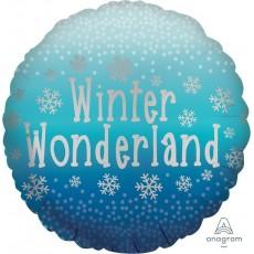 Christmas Standard Satin Snowflakes Foil Balloon