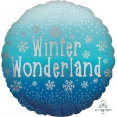 Christmas Standard Satin Winter Wonderland Snowflakes Foil Balloon