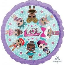 Round LOL Surprise Standard HX Foil Balloon 45cm