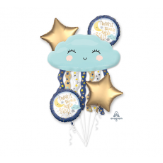Twinkle Little Star Bouquet Foil Balloons Pack of 5