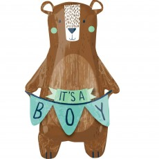 Baby Shower - General SuperShape We Can Barely Wait! It's a Boy! Shaped Balloon 50cm x 86cm