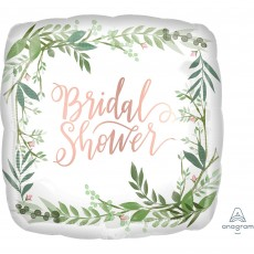 Bridal Shower Love and Leaves Standard XL Satin Shaped Balloon