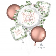 Bridal Shower Love and Leaves Bouquet Foil Balloons