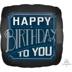 Happy Birthday Man Jumbo HX Happy Birthday To You Shaped Balloon 71cm