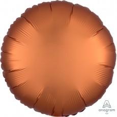 Round Satin Luxe Amber Orange Standard HX Foil Balloon 45cm